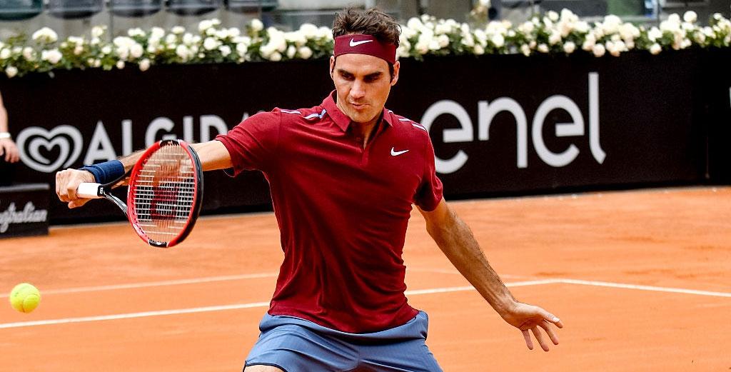 Отличный бэкхенд Роджера Федерера в Риме