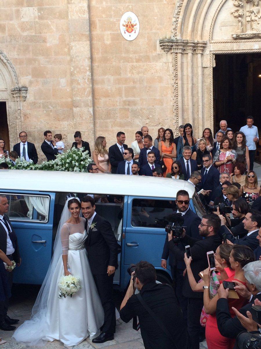 Кадр дня: свадьба Фабио Фоньини и Флавии Пеннетты