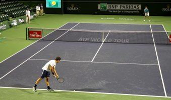 Игровая тренировка Роджера Федерера на турнире в Индиан-Уэллсе