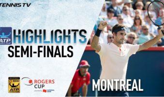 Лучшие моменты: Федерер и Зверев выигрывают в Монреале полуфиналы