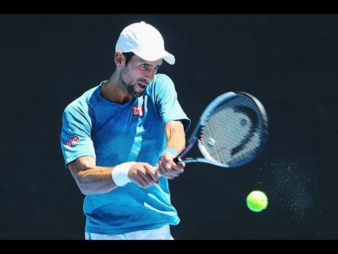 Тренировка Новака Джоковича на Australian Open